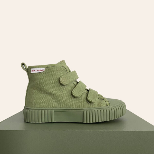 khaki hightop kids sneaker recommended by podiatrists