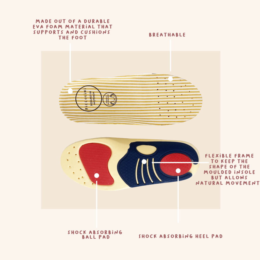removabe podiatrist recommended insole for kids shoes